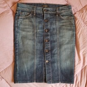 7 For All Mankind Button Front Skirt Women's 26